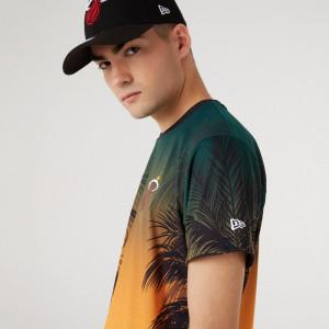 New Era Coastal Heat AllOver Miami Heat T-Shirt ''Sunset Fade''