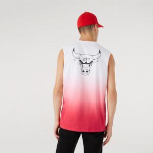 New Era NBA Drip Dye Chicago Bulls Tank Top ''Red''