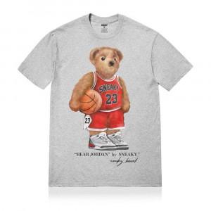 Sneaky Jordan Bear T-Shirt ''Grey''