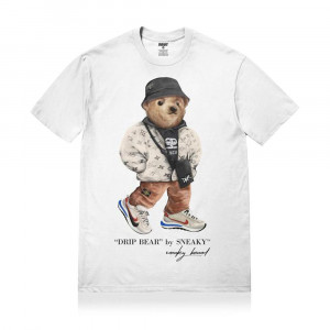 Sneaky Drip Bear T-Shirt ''White''