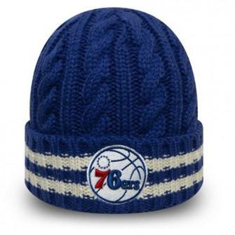 New Era NBA Team Philadelphia 76ers Stripe Knit Hat ''Black''