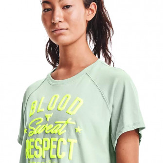 UA Project Rock BSR WMNS T-Shirt ''Fisher Green''