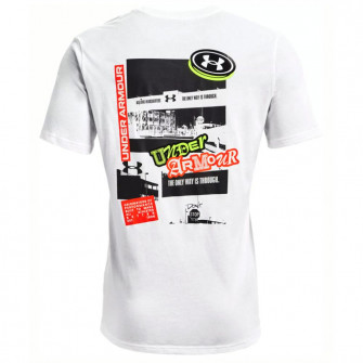 UA Sticker Campus T-Shirt ''White''