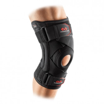 McDavid Knee Support Brace With Stays And Cross Straps ''Black''