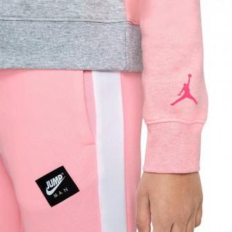 Air Jordan Jumpman Air Girls Hoodie ''Pink/Grey''