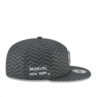 New Era NBA Brooklyn Nets City Edition 9FIFTY Snapback Cap ''Grey''
