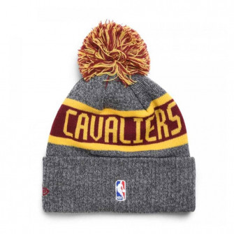 New Era Cleveland Caveliers NBA On Court Collection Pom Youth Knit Hat ''Grey''
