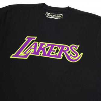 M&N NBA Los Angeles Lakers Neon Logo T-Shirt ''Black''