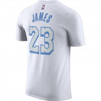 Nike Dri-FIT NBA City Edition Logo Los Angeles Lakers LeBron James T-Shirt ''White''