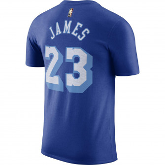 Nike NBA LeBron James Los Angeles Lakers Classic Edition T-Shirt ''Rush Blue''