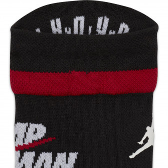 Air Jordan Legacy Crew Socks ''Black/Gym Red/White''