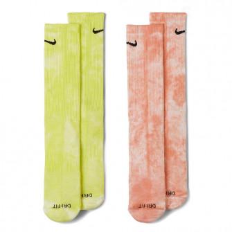 Nike Everyday Plus Tie-Dye Crew Socks ''Green/Pink''