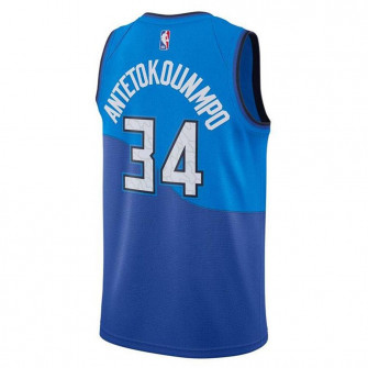 Nike NBA Milwaukee Bucks Giannis City Edition Swingman Kids Jersey ''Blue''