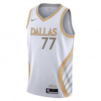 Nike NBA Dallas Mavericks Luka Dončić City Edition Swingman Kids Jersey ''White/Gold''