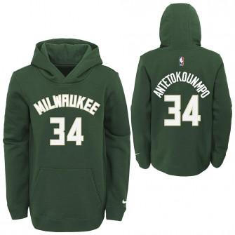 Nike NBA Milwaukee Bucks Giannis Antetokounmpo Kids Hoodie ''Green''