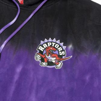M&N Tie-Dye Toronto Raptors Hoodie ''Black/Purple''