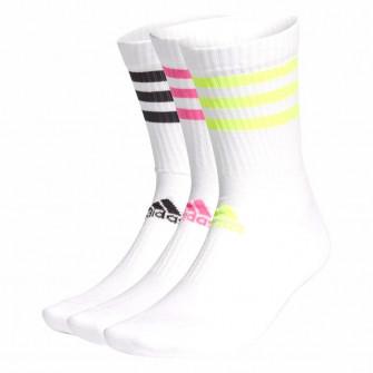 adidas 3-Stripes Cushioned Crew Socks 3-Pack ''Yellow/Pink/Black''