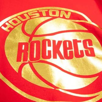 M&N NBA Houston Rockets Midas Foil T-Shirt ''Red''