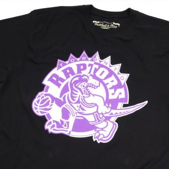 M&N NBA Toronto Raptors Split Logo T-Shirt ''Black''