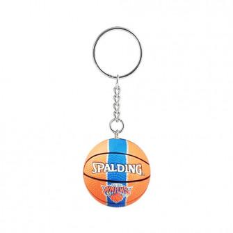 NBA New York Knicks Basketball Keychain ''Orange/Blue''