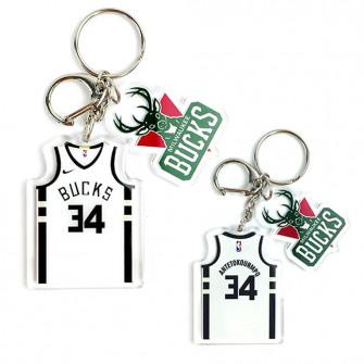 NBA Milwaukee Bucks Giannis A. Keychain ''White''