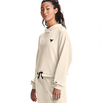 UA Project Rock Terry WMNS Hoodie ''Summit White''