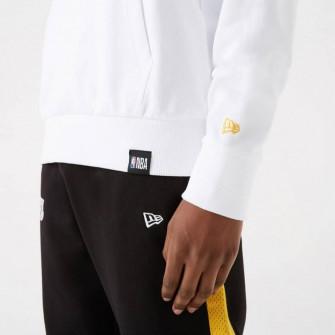New Era NBA LA Lakers Team Logo Stripe Hoodie ''White''