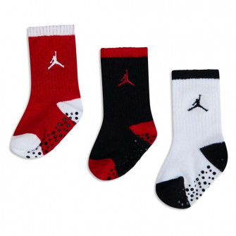Air Jordan No-Slip Crew Baby Socks ''Black/Red/White''