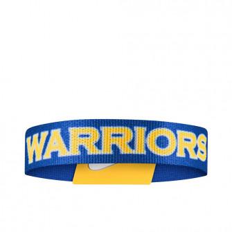 Nike NBA Golden State Warriors Reversible Baller Wristband ''Blue/Yellow''