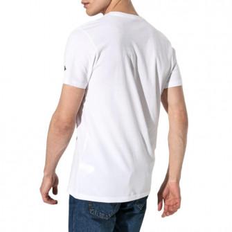 New Era Branded Basketball Court T-Shirt ''White''