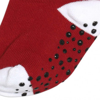 Air Jordan No-Slip Crew Baby Socks ''Black/White/Red Dot''