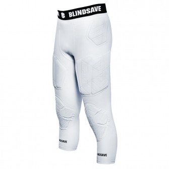 Blindsave 3/4 Tights With Full Protection ''White''
