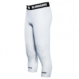 Blindsave 3/4 Tights with Knee Padding ''White''
