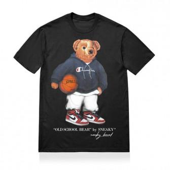 Sneaky Old School Bear T-Shirt ''Black''