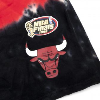 M&N Tie-Dye Terry Chicago Bulls Shorts ''Black/Red''