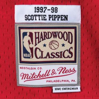 M&N NBA Chicago Bulls Road 1997-98 Swingman Jersey ''Scottie Pippen''
