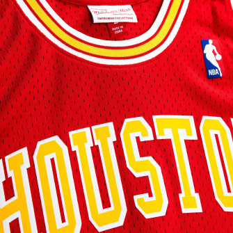 M&N NBA Yao Ming Houston Rockets 2004-05 Swingman Jersey ''Red/Yellow''