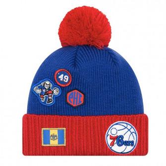New Era NBA Draft Philadelphia 76ers Knit Hat ''Blue''