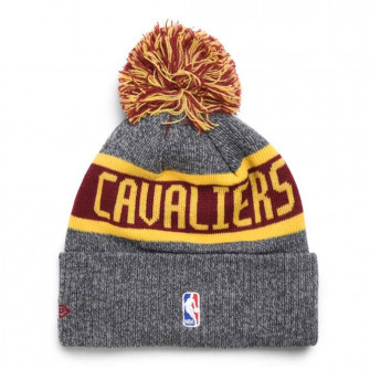 New Era Cleveland Cavaliers NBA On Court Collection Pom Knit Hat ''Grey''